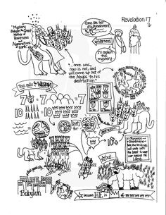 Bible Doodle Study Guide for Revelation 17- The Prostitute on the Beast by BibleDoodles on Etsy