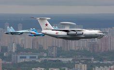 Beriev A-50 with MIG escort