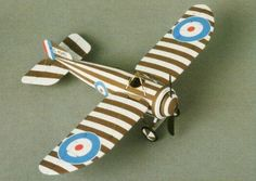 WWI Bristol M.1C Monoplane Scout Fighter Free Aircraft Paper Model Download