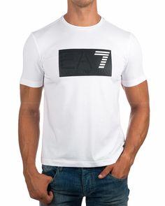 Camiseta Emporio Armani EA7 Blanca - New Logo   Envio Gratis