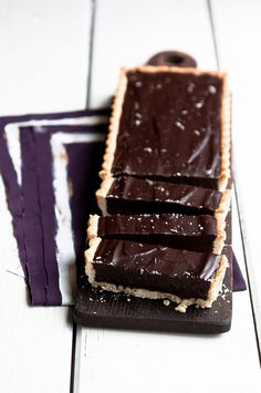 Lavender Dark Chocolate Tart //