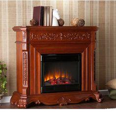 Fireplaces - Seneca Electric Fireplace by Southern Enterprises | KitchenSource.com