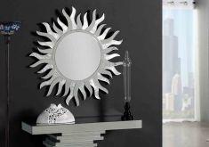 Decoración y diseño en espejos de pared en pan de plata y lunas de espejo. Ideas y diseños para decorar con estilo.
