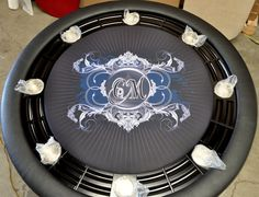 The Nighthawk is just one of many styles and shapes available with removable dining surface to convert from any time furniture to poker night fun. Round Poker Table, Custom Tables, Poker Chips, Sex And Love, Apps, Interiors, Facebook, Decoration Home, App