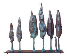 Paisatge: Arbres i persona - bronze // Landscape: Trees and person - bronze by Lau Feliu  #bronze #sculpture