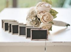 Rustic Wedding Chalkboard Signs SET of 12 by braggingbags on Etsy