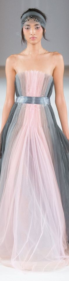 Yulia Yanina spring 2016 couture #Tulle #Pink #Grey