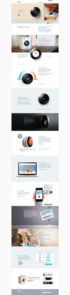 nest thermostat website