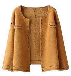 Max Saddle Stitched Short Long Sleeved Jacket at Style Moi