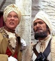 Carry On... Up The Khyber. Image shows from L to R: The Khasi of Kalabar (Kenneth Williams), Bungdit Din (Bernard Bresslaw)