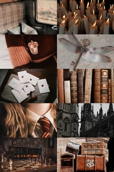 Hermione at Hogwarts aesthetic