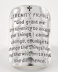 """$19.99 """"God Grant Me The Serenity To Accept The Things I Cannot Change, Courage To Change The Things I Can, & The Wisdom To Know The Difference."""" Stretchable Ring! www.imnotyourtypicalgirl.com #religious #beautiful #jewelry"""