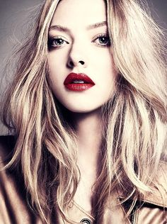 Red lips.