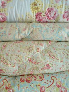 Blue Vintage Eiderdowns by pretty shabby. PRETTY!