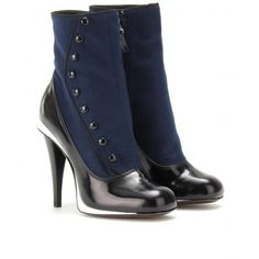 FENDI : FELT AND LEATHER BUTTON BOOTS | Sumally