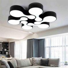 Schön DIY Modern Led Deckenleuchte 12W Bowling Deckenleuchte Home Wohnzimmer  Schlafzimmer Minimalismus Deckenleuchten Weiß Und Schwarz Korridor Licht