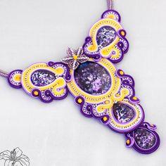 soutache, beadweaving, necklace | author: Zuzana Hampelova Valesova (Lillian Bann) | www.z-art-eshop.cz | http://www.facebook.com/pages/Z-ART/539656212733510