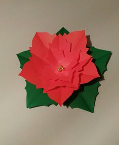 Nochebuena de papel, paper flowers