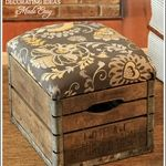 I Love That Junk: Old crate ottoman - Decorating Ideas Made Easy