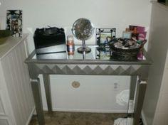 MR 401007SET Glass Mirrored Vanity Set | Mirror Furniture, Vanities And Dressing  Tables