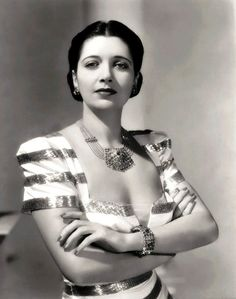 "Kay Francis in ""The Man Who Lost Himself"" (1941). Costume design by Vera West."