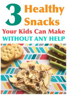Healthy Meals For Kids healthy snacks for kids, quick snacks for kids, snacks with peanut butter - The only thing better than healthy snacks are ones you don't have to make! You just need a few ingredients to let your kiddos make their own yummy snacks! Quick Snacks For Kids, Healthy Bedtime Snacks, Toddler Snacks, Easy Snacks, Yummy Snacks, Healthy Kids, Snack Recipes, Healthy Recipes, Kid Snacks
