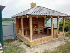 Outdoor Gazebos, Backyard Gazebo, Backyard Patio Designs, Pergola, Outdoor Garden Sink, Outdoor Kitchen Design, Outdoor Fireplace Designs, Backyard Fireplace, Small Patio Ideas On A Budget