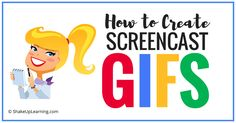 One of the most common questions I receive is how I make my screencast GIFs, so today I'm offering a post that will show you how I create them. I use screencast GIFs to show how-to steps on my blog and in my presentations.