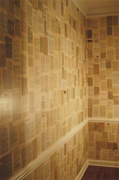 book pages wallpaper- I want this in my house some day...