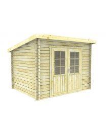Interflex 3025 tuinhuisje / blokhut Outdoor Living, Shed, Outdoor Structures, Garden, Outdoor Life, Garten, Gardens, The Great Outdoors, Outdoors