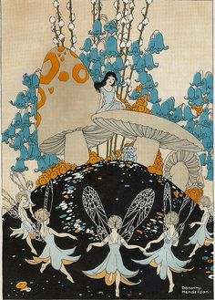 Girl and Dancing Fairy Ring by Wyld_Hare, via Flickr