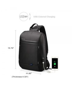 0ecc68b9577a Anti Theft Single Shoulder 13-Inch Laptop Backpack Waterproof Coss-body  Sling Bag with USB Charging Port - 13IN - C018EXWYYL3