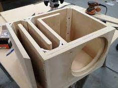Billedresultat for diy subwoofer box design Custom Subwoofer Box, Diy Subwoofer, Subwoofer Box Design, Speaker Box Design, Sub Box Design, Speaker Plans, Speaker System, Custom Car Audio, Diy Speakers