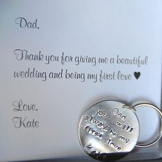Father of the Bride Keychain Gift for Father