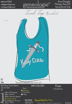 Kappa Delta tank Kappa Delta www.greekt-shirtsthatrock.com  http://www.pinterest.com/SratStylista/