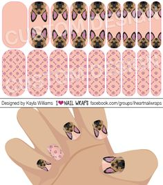 German Shepherd Dog Jamberry NAS Nail Wrap Design. Why bother with nail art designs and polish when Jamberry nail wraps are so much easier? Get the pretty nails you've always wanted for a fraction of the cost of a salon visit. #iheartnailwraps #nailart #naildesigns #jamberry #jamicure #nails #dog #germanshepherd