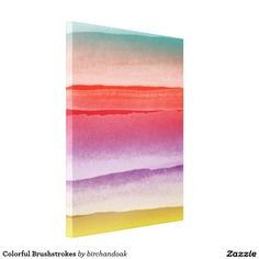 Colorful Brushstrokes Canvas Print