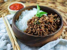 Spicy Thai Basil Ground Turkey | Slender Kitchen