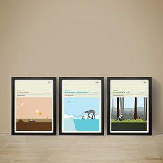 Star Wars Movie Posters - Set of Prints, Movie Poster, Movie Print, Film Poster, Star Wars Poster, A3