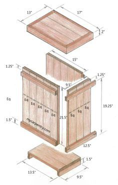 Wood Waste Basket Picture Tutorial and Pattern. This would also make a nice primitive clothes hamper.