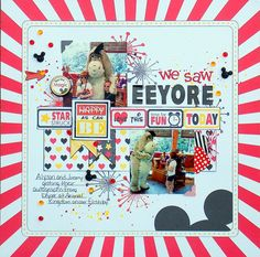 We Saw Eeyore - Scrapbook.com- An eye-catching Disney layout made using the Magic collection by Queen and Co