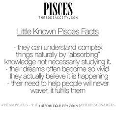 TheZodiacCity - Best Zodiac Facts Since — Little Known Facts About Pisces. Pisces Traits, Pisces And Aquarius, Pisces Love, Astrology Pisces, Pisces Quotes, Zodiac Signs Pisces, Pisces Woman, Zodiac Sign Facts, March Pisces