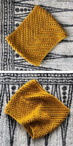 Colorful Cowls Free Knitting Patterns. Free For All Cowl will looks totally amazing, especially in vivid colour like yellow or light blue. It features an intuitive textured stripe pattern and small openings. Thanks to that, this cowl looks a little bit vintage, don't you think?   #cowl #freeknittingpattern