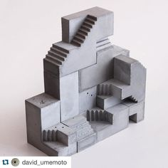 "Loving David's work #Repost @david_umemoto with @repostapp. Soma Cube XS | Variation 2 7 piece modular concrete sculpture. Here is my latest edition in this series. This is a smaller version the assembled 3x3x cube measuring 6""x6""x6"". Available. #architecture #artchitecture #artinstallation #sculpture #concrete #concreteart #concretearchitecture #modular #contemporaryart #modernart #modernarchitecture #cityscape #brutalism #skyscraper #exhibition #urbanart #streetart #artwork #minimalist…"