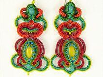 Soutache Earrings, Crochet Earrings, Drop Earrings, Art Nouveau, Etsy, Mini, Christmas Ornaments, Holiday Decor, Vintage