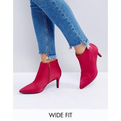 New Look Wide Fit Satin Mid Heeled Boot (€37) ❤ liked on Polyvore featuring shoes, boots, pink, pink high heel boots, skate shoes, pink boots, wide width boots and pointy-toe boots