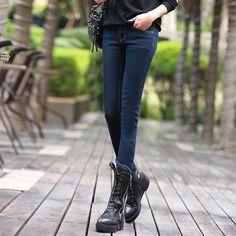54d64e69ed4 Plus Velvet Thicker Women Jeans Warm High Waist Trousers Cowboy Pants  Stretch Denim Jeans Pants Winter Pencil Jeans C1495