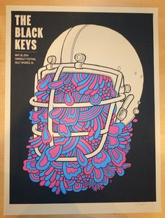 2014 The Black Keys - Gulf Shores Concert Poster by Methane