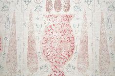 Subtle linen print by Penny Morrison.