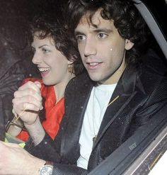 Mika in a car with who knows? Must be a friend 2008